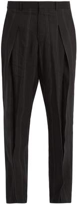 Stella McCartney Casual pleated linen-blend trousers