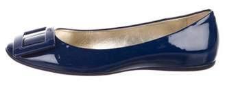 Roger Vivier Patent Leather Round-Toe Pumps