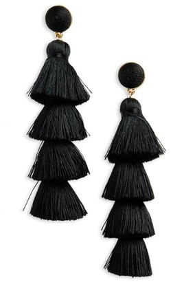 Women's Baublebar Antonella Tassel Fringe Earrings $48 thestylecure.com
