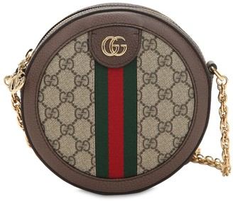 Gucci Mini Ophidia Gg Supreme Round Bag