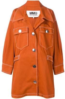MM6 MAISON MARGIELA single-breasted shift coat