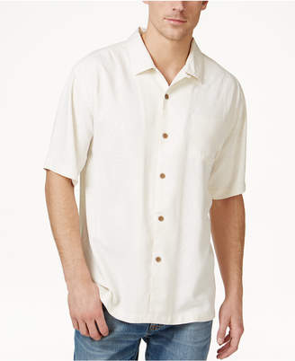 Tommy Bahama Men's Tiki Palms Silk Short-Sleeve Shirt, A Macy's Exclusive Style $98 thestylecure.com