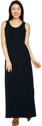 Isaac Mizrahi Live! _Petite Sleeveless Maxi Dress w/ Side Slits