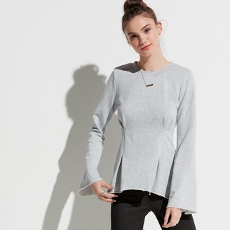 k / lab k/lab High Low Raw-Edge Sweatshirt
