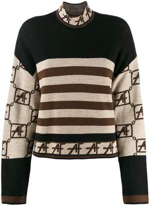 Alberta Ferretti stripe colour-block sweater