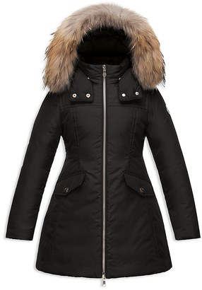 Moncler Girls' Obax Fitted Coat - Sizes 4-6 $775 thestylecure.com