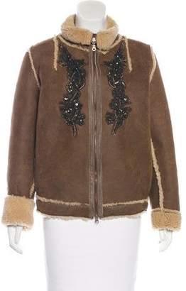 Antik Batik Embellished Leather Jacket
