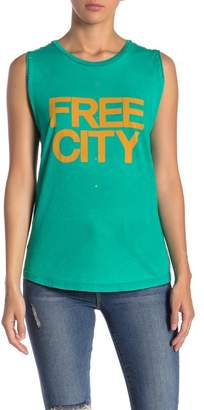 Freecity Free City Embellished Logo Muscle Tank
