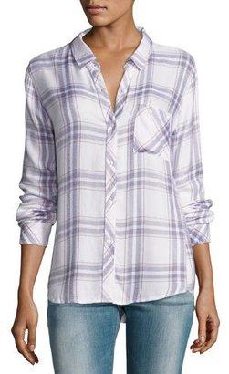 Rails Hunter Plaid Shirt, White/Lilac Pattern $148 thestylecure.com