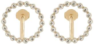 CHARLOTTE CHESNAIS FINE JEWELLERY Saturn small diamond & yellow-gold earrings