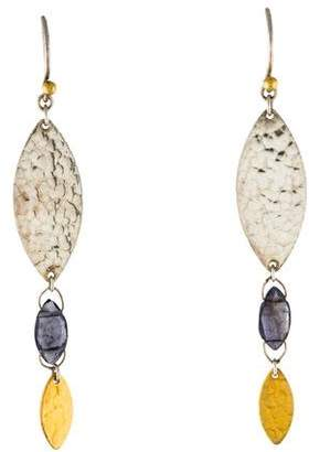 Gurhan Iolite Willow Bloom Earrings