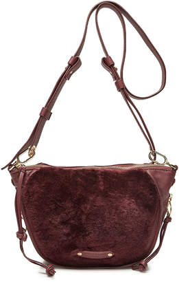 Liebeskind Berlin Leather Crossbody Bag with Shearling