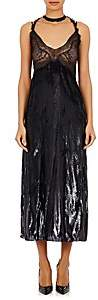 Nina Ricci WOMEN'S METALLIC VELVET DRESS SIZE 38 FR