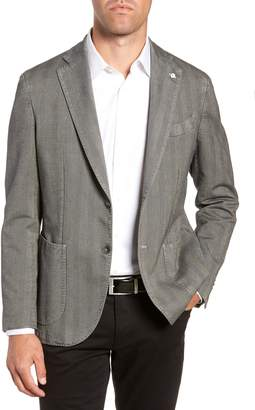 L.B.M. 1911 L.B.M 1911 Classic Fit Herringbone Cotton Sport Coat