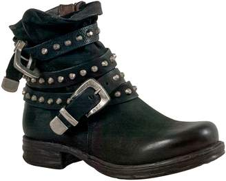 A.S.98 Soleil Studded Buckle Strap Bootie