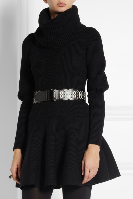 Alaia Laser-cut leather waist belt