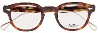 654291b7a58 Moscot Lemtosh Round-Frame Tortoiseshell Acetate And Gold-Tone Titanium  Optical Glasses