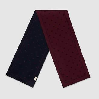 Gucci Wool scarf with bees and stars