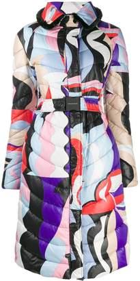 Emilio Pucci Acapulco print quilted coat