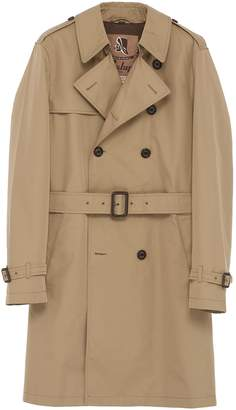 Sealup Belted padded waterproof twill trench coat