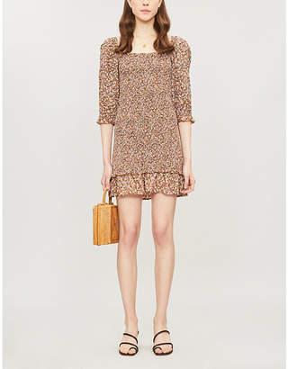 Faithfull The Brand Cette floral-print flared-hem rayon mini dress