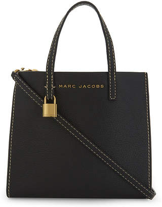 Marc Jacobs Black and Gold Mini Grind Tote Bag