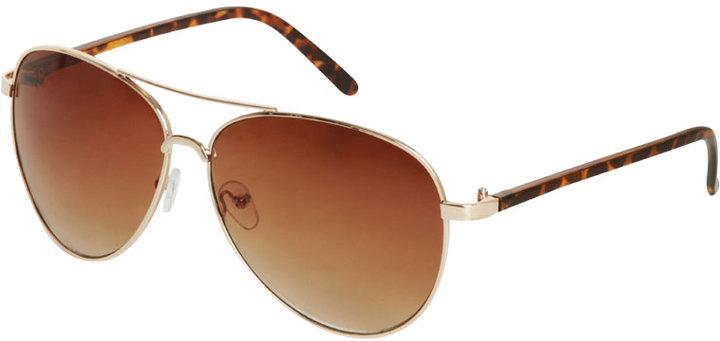 Basic Thin Aviator Sunglasses