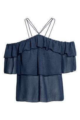 H&M Off-the-shoulder Ruffled Top