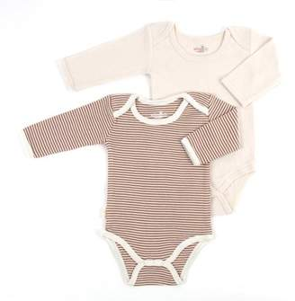 Tadpoles S/2 long slv lap shoulder onesie Layette 3-6 mths