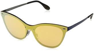 Ray-Ban Women's Steel Woman Non-Polarized Iridium Cateye Sunglasses