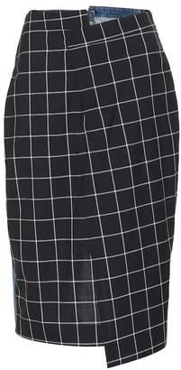 Monse Check and denim skirt