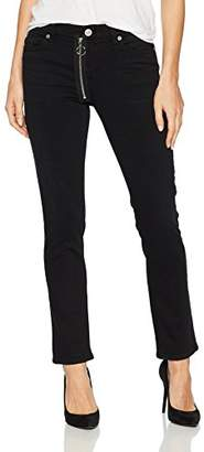 Hudson Jeans Women's Riley Crop Relaxed Straight Exposed Zipper