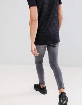 Mennace Gray Super-Skinny Cordoza Jeans