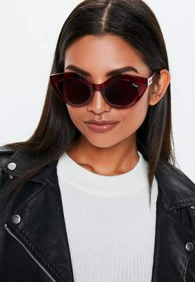 Missguided Australia Good Night Kiss Burgundy Sunglasses