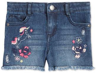 1db713f4aea Epic Threads Little Girls Embroidered Unicorn Denim Shorts