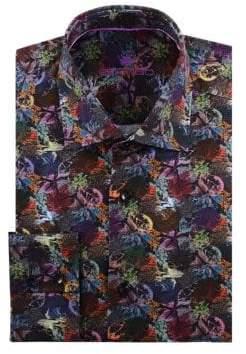 Leaf Print Dress Shirt