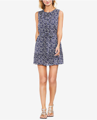 Vince Camuto Printed Tie-Waist Dress