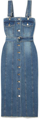 Sjyp Denim Dress - Dark denim