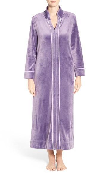 Carole HochmanWomen's Carole Hochman Front Zip Velour Robe