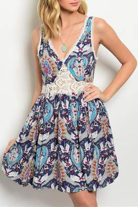 Ark & Co Paisley Navy Dress