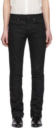 Saint Laurent Black Low-Waisted Boot Cut Jeans