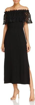 Design History Off-the-Shoulder Lace Maxi Dress $128 thestylecure.com