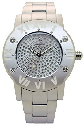 Gallucci レディースwt23451qz / amp-wファッション日本クォーツアルミニウム腕時計ホワイトバンド