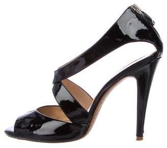 Theory Marin Patent Leather Sandals