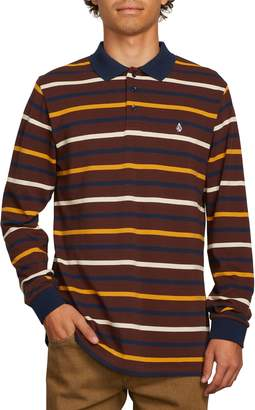 Volcom Gon James Stripe Long Sleeve Polo
