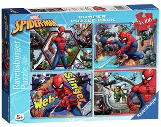 Ravensburger Marvel Spider-Man 100 Piece Puzzles - 4 Pack