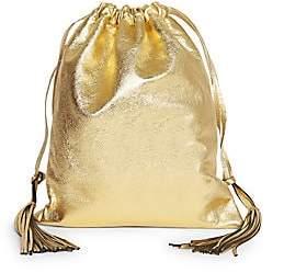 ATTICO Women's Gold Lamé Leather Pouch