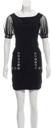 Chiara Boni Grommet-Accented Knee-Length Dress