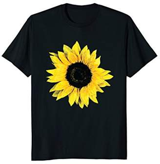 Pretty Oversize Flower Floral Sunflower Graphic T-Shirt