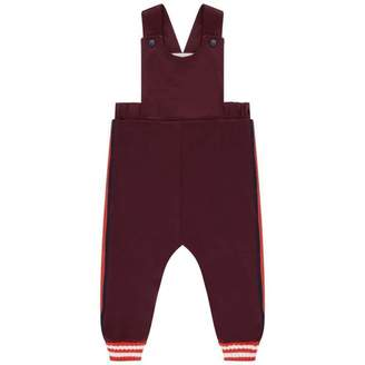 Gucci GUCCIBurgundy Baby Dungarees